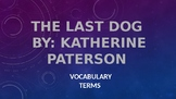 The Last Dog Vocabulary
