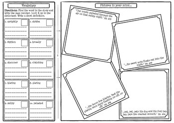 Sing to the Stars Comprehension Foldable