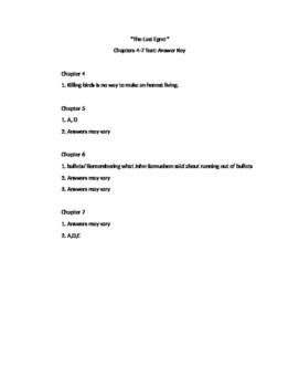 The Last Egret Quiz Chapters 4-7