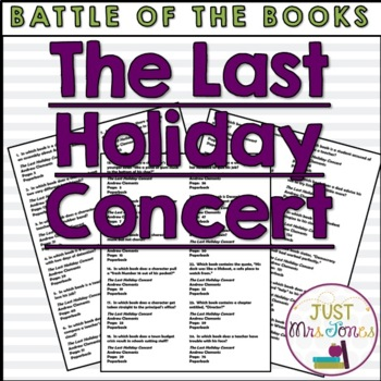 The Last Holiday Concert Battle of the Books Trivia Questions