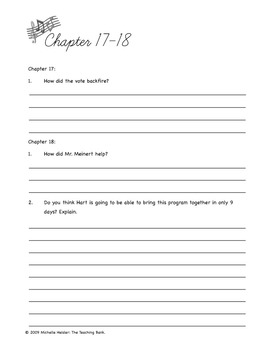The Last Holiday Concert Comprehension Packet