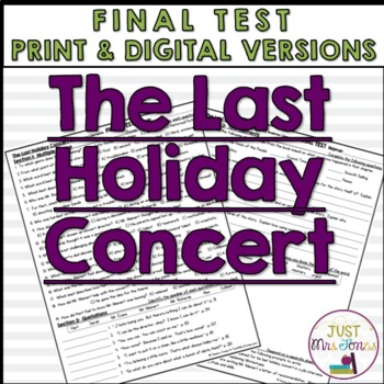 The Last Holiday Concert Final Test