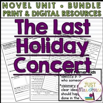 The Last Holiday Concert Novel Unit