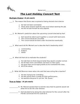 The Last Holiday Concert Test