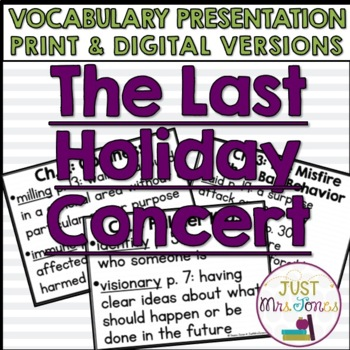 The Last Holiday Concert Vocabulary Presentation