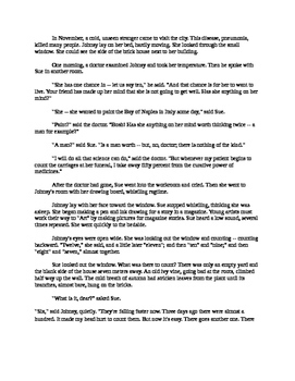 The Last Leaf Mp3 and Easy Reading Text