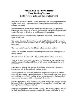 The Last Leaf - O. Henry - Easy Reading Version + Quiz