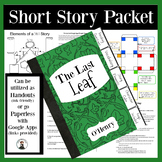 Last Leaf O'Henry Tier 2 Vocabulary, Reading Questions, St