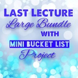 The Last Lecture LARGE BUNDLE with Mini-Bucket List Project