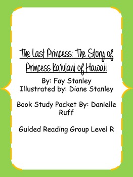 The Last Princess Book Study Packet