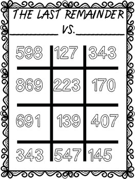 The Last Remainder: CCSS Long Division Game!