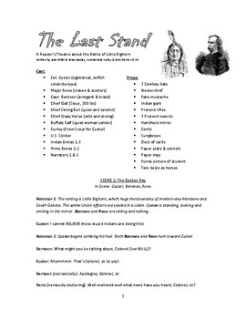 Reader's Theater Play - The Last Stand: The Battle of Little Bighorn