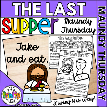 The Last Supper Coloring Handouts Worksheets