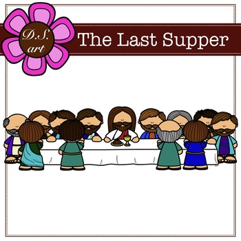 The Last Supper Digital Clipart (color and black&white)