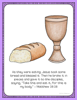 The Last Supper Easter Poster, Class Decor, Holiday Sign, Bulletin Board
