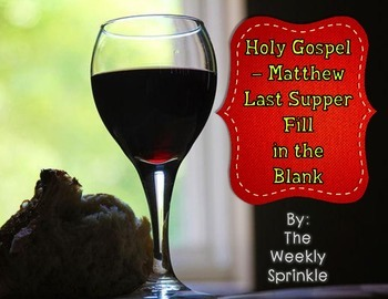 The Last Supper Matthew Fill in the Blank