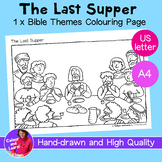 """""""The Last Supper"""" Bible Coloring Sheet/Colouring Page (Chr"""