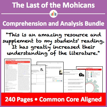 The Last of the Mohicans – Comprehension and Analysis Bundle