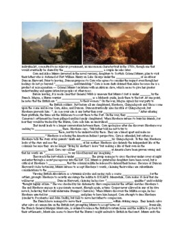 The Last of the Mohicans (film guide handout, exam, and key)