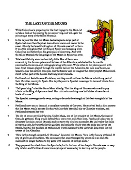 The Last of the Moors - Literary Text Test Prep