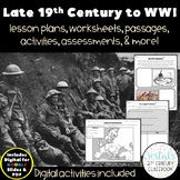 The Late 19th Century to World War I {Digital & PDF Included}