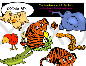 The Late Bloomer Clipart Pack