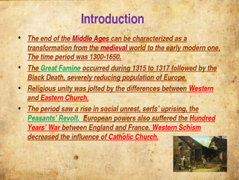 The Middle Ages - The Late Middle Ages
