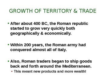 The Late Republic-Rome