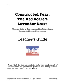 """The Lavender Scare: Constructed Fear of """"Homosexuals"""""""