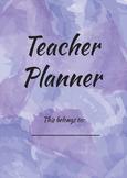 The Lavender Teacher Planner