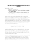 The Law of Conservation of Mass and Balancing Chemical Equations