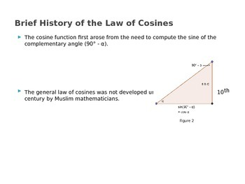 The Law of Cosines (Presentation and Handout)