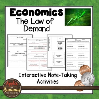 The Law of Demand - Economics Interactive Note-taking Activities