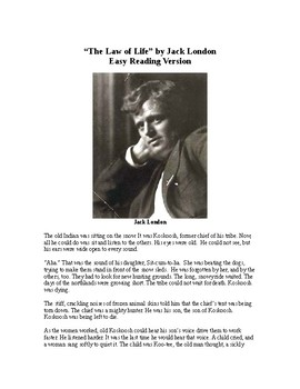 The Law of Life - Jack London - Easy Reading Version