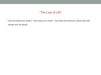 The Law of Life Presentation