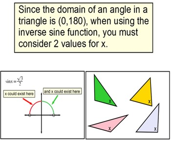 The Law of Sines, 4 Intros + 6 Assignments for Power Point