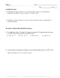 The Law of Universal Gravitation- Quiz or Worksheet