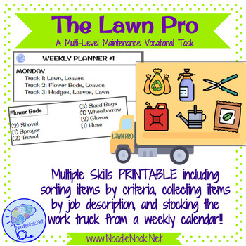 The Lawn Pro- A Printable Maintenance Vocational Work Task