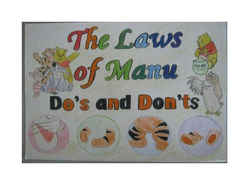 Laws of Manu; Do's and Don'ts; A Creative Common Core Appr