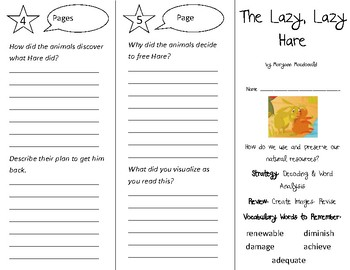 The Lazy, Lazy Hare Trifold - 3rd Grade Literacy by Design Theme 15