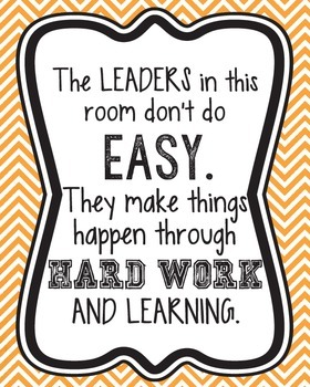 The Leaders in this Classroom...Poster