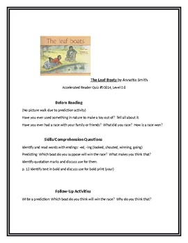 The Leaf Boats for Guided Reading