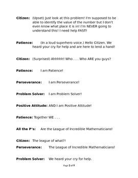 The League of Incredible Mathmaticians - Part One The Place Value Problem