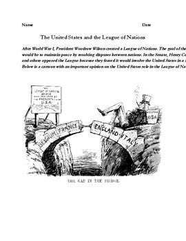 The League of Nations Political Cartoon Analysis