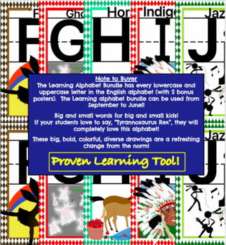 The Learning Alphabet Bundle - lowercase and uppercase