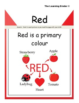 The Learning Binder - Colour Red