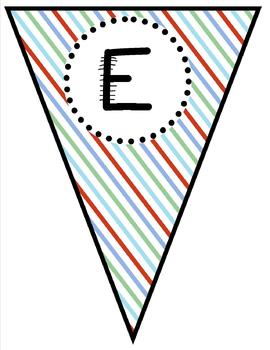 The Learning Clinic/A Classroom Decorating Theme/Welcome Pennants