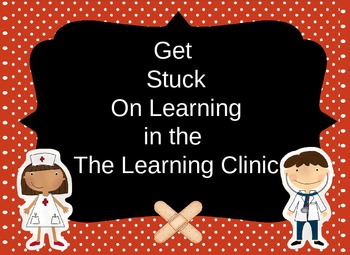 The Learning Clinic/A Classroom Decorating Theme/Editable Bandaids