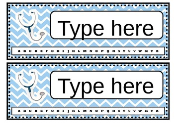 The Learning Clinic/A Classroom Decorating Theme/Editable Nametags