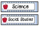 The Learning Clinic/A Classroom Decorating Theme/Editable Schedule Cards